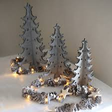 grey scandi christmas tree decoration by red lilly