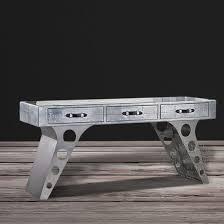 Metal Office Desks China Vintage Style Aluminum Rivets Wing Aviator Used Metal Office