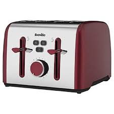 Amazon 4 Slice Toaster Breville Vtt628 Colour Notes 4 Slice Toaster Red Amazon Co Uk