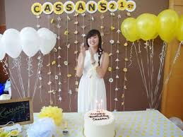 birthday decor ideas at home decorions for a st good design decor 21st birthday party ideas at