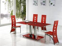 Jet Red Glass Dining Table Dining Table And Chairs Dining Tables - Red kitchen table and chairs