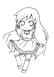 chibi spring lineart free for coloring by vocaloid neko kun