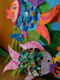fish craft little blue fish with one shiny scale it s a