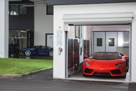 lamborghini showroom building the car lift for luxury cars