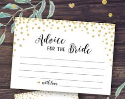 Advice Cards For Bride My Favorite Memory Of The Bride Card Printable Wedding Shower