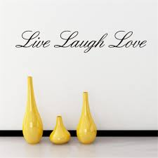 live laugh love home decor english words