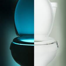 toilet light illumibowl motion activated toilet night light noveltystreet