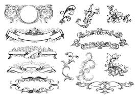 antique scroll ornaments free photoshop brushes at brusheezy