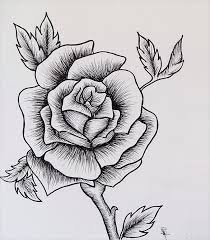 photos easy sketch of a rose drawing art gallery