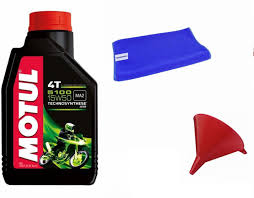 motul 1 motul 5100 15w50 4t 1 litre scooter engine oil 1 cloth 1