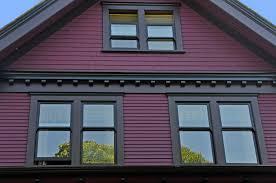 dark purple house purple painted lady before house trim ideas