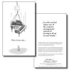 portfolio funeral advertising for the perplexed