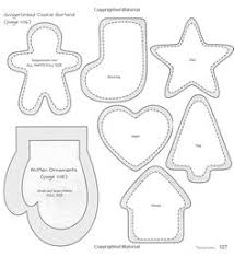Free Felt Christmas Ornament Templates