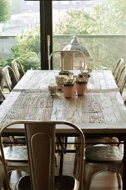 tolix chairs home dining rooms pinterest rustic table