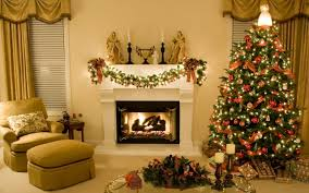 2560x1440 christmas new year home light fire fireplace