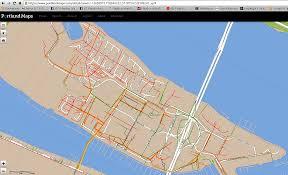 Portland Oregon Traffic Map by Maps Hayden Island