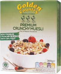 golden country premium crunchy muesli 300g boxes pack of 14