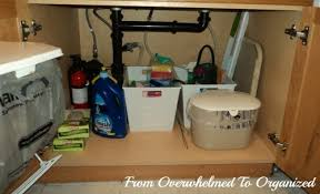 Under Kitchen Sink Cabinet Tips For Organizing Under The Kitchen Sink From Overwhelmed To