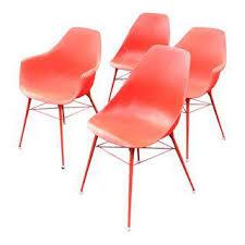 Mid Century Modern Plastic Chairs Vintage U0026 Used Mid Century Modern Side Chairs Chairish