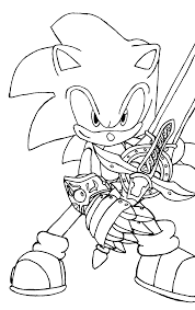 sonic coloring pages online funycoloring