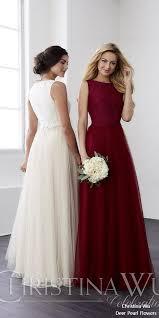 wu wedding dresses wu bridesmaid dresses 2018 deer pearl flowers