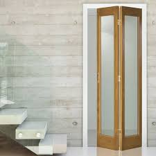 Oak Interior Doors Decor Oak Wood Glass Bifold Doors For Interesting Interior Door