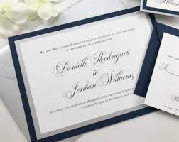 wedding invitations navy navy wedding invites etsy