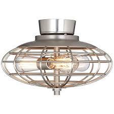 Universal Light Kits For Ceiling Fans Brushed Nickel Industrial Cage 3 60 Watt Ceiling Fan Light Kit