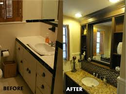 painting bathroom vanity before and after home design