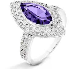 amethyst diamond engagement ring sterling silver heart shape natural amethyst and black diamond mom