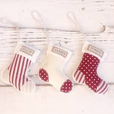 personalised christmas decorations mini stocking fabric felt