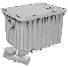 kitchen grease trap design canplas 3920a02 grease trap 20 gal min 40 lb capacity 2