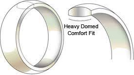 domed ring comfort fit vs standard fit wedding bands
