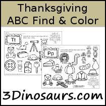 3 dinosaurs abc printables