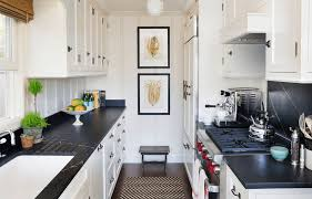 How To Make A Galley Kitchen Look Larger Design Ideas For Tiny White Kitchens Hotpads Blog