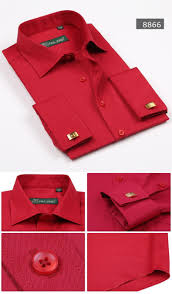 new french cuff formal dress shirts long sleeve regular tailoring