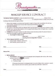makeup contracts for weddings contract in home salon ideas makeup business and