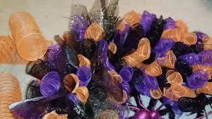 halloween deco mesh wreath tutorial youtube