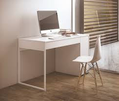 Modern Desk Uk Temahome Prado Modern Desk In White With Chrome Or White