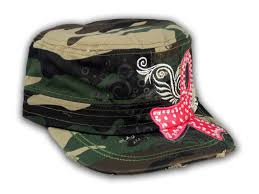 camouflage ribbon camouflage cadet hat with pink cancer ribbon printed t shirts