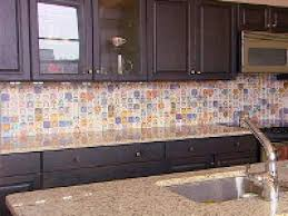house chic multi colored backsplash tiles tags bronze colored