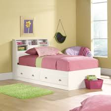 White Bookcase Headboard Full Trundle Bed With Bookcase Headboard Bobsrugby Com Best Shower