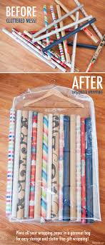how to store wrapping paper and gift bags 18 genius duty organizing ideas garment bags wrapping