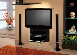 Modern Wall Mounted Entertainment Center Tv Stands Vario Black High Gloss Revolving Tv Stand Modern Tv