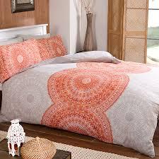 ethnic circle printed duvet cover and pillowcase set