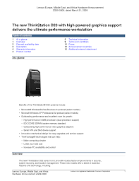 download free pdf for lenovo thinkstation d20 4158 desktop manual