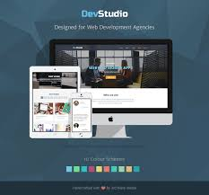 Responsive Bootstrap Theme For Web Development And Design Agency Themes Templates