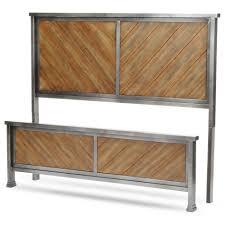 Reclaimed Wood Headboard by Braden California King Headboard And Footboard With Metal Panels