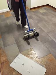 Laminate Floor Roller Installing Peel And Stick Vinyl Tile For Realists