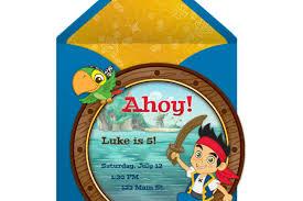 jake land pirates party invitation disney